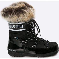 Moon Boot - Śniegowce Monaco. Czarne śniegowce i trapery damskie Moon Boot, z materiału. Za 649.90 zł.