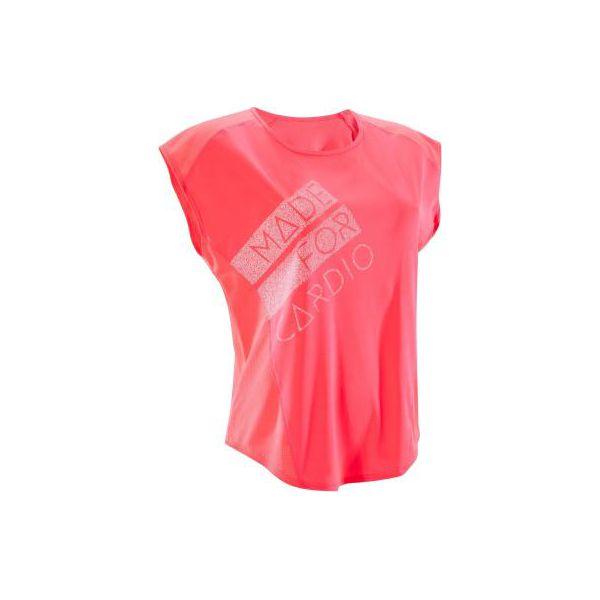 8e62b85409d50e Koszulka fitness kardio krótki rękaw 120 damska - Koszulki sportowe damskie  DOMYOS. W wyprzedaży za 24.99 zł. - Koszulki sportowe damskie - Odzież  sportowa ...
