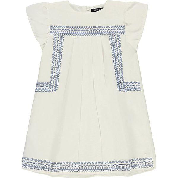 ca3cf663ab Lniana sukienka w kolorze białym - Sukienki dla dziewczynek marki ...