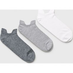New Balance - Skarpetki (3-pack). Szare skarpety damskie New Balance, z bawełny. W wyprzedaży za 39.90 zł.