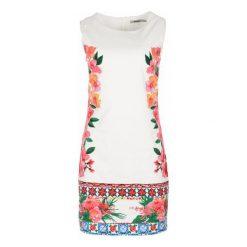Desigual Sukienka Damska Cher 34 Biały. Białe sukienki damskie Desigual, z materiału, eleganckie, z okrągłym kołnierzem. W wyprzedaży za 319.00 zł.