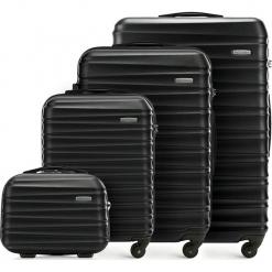 Zestaw walizek 56-3A-31K-10. Brązowe walizki damskie Wittchen, z gumy. Za 600.78 zł.
