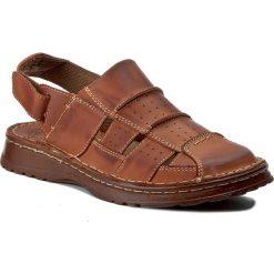 Sandały WALDI - 0038 Brąz Bufallo. Brązowe sandały męskie Waldi, z materiału. Za 99.00 zł.