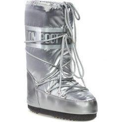 Śniegowce MOON BOOT - Glance 14016800002 Argento D. Szare kozaki damskie Moon Boot, z materiału. Za 499.00 zł.