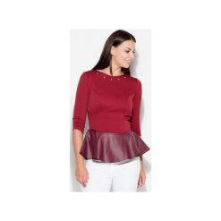 Bluzka K073 Bordo. Czerwone bluzki damskie Katrus. Za 99.00 zł.