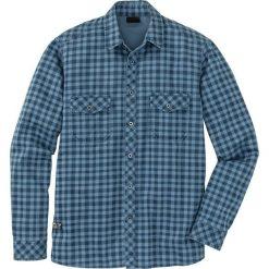 Koszula z długim rękawem Slim Fit bonprix niebieski dżins - ciemnoniebieski w kratę. Koszule męskie marki Giacomo Conti. Za 49.99 zł.