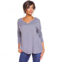 """Sweter """"Coco"""" w kolorze szarym. Szare swetry damskie So Cachemire, z kaszmiru. W wyprzedaży za 165.95 zł."""