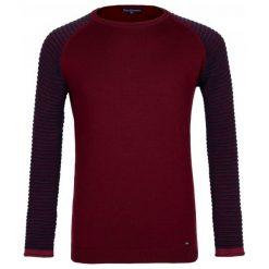 Paul Parker Sweter Męski M Burgundowy. Czerwone swetry przez głowę męskie Paul Parker, w paski. Za 169.00 zł.