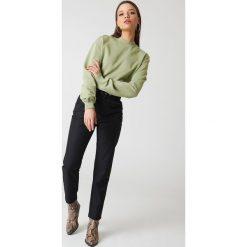 NA-KD Basic Bluza basic - Green. Zielone bluzy damskie NA-KD Basic, z bawełny. Za 100.95 zł.