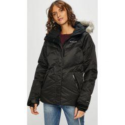 Columbia - Kurtka puchowa Lay. Czarne kurtki damskie Columbia, z materiału. W wyprzedaży za 799.90 zł.