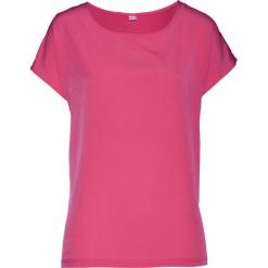 Bluzka shirtowa bonprix różowy. Czerwone bluzki damskie bonprix, z satyny. Za 54.99 zł.