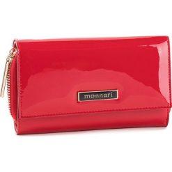 Duży Portfel Damski MONNARI - PUR0701-005  Red Lacquer. Czerwone portfele damskie Monnari, z lakierowanej skóry. W wyprzedaży za 159.00 zł.