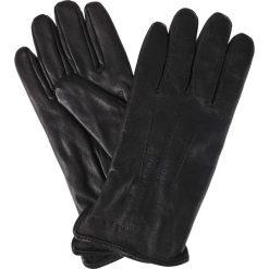 Rękawiczki Czarne. Czarne rękawiczki męskie LANCERTO, w paski, ze skóry. Za 129.90 zł.