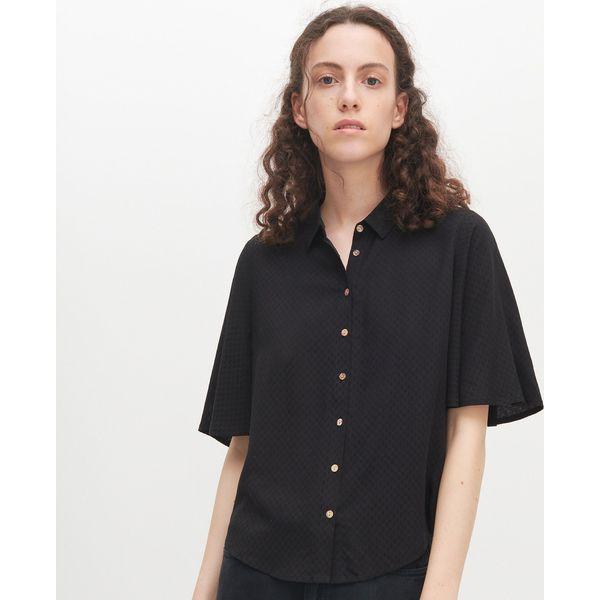 Koszula oversize z krótkim rękawem Koszule damskie  ZFESd