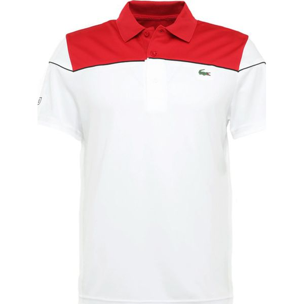 812a7bafc Lacoste Sport DJOKOVIC Koszulka polo red/white black - Koszulki polo ...