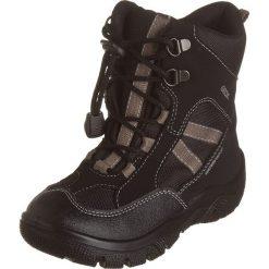 """Botki zimowe """"Clady"""" w kolorze czarno-jasnobrązowym. Buty zimowe chłopięce marki Geox. W wyprzedaży za 185.95 zł."""