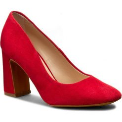 Półbuty SOLO FEMME - 50201-01-G13/000-04-00 Czerwony. Czerwone półbuty damskie Solo Femme, z materiału. W wyprzedaży za 209.00 zł.