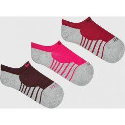 Nike - Skarpetki (3-pack). Szare skarpety damskie Nike, z bawełny. Za 49.90 zł.