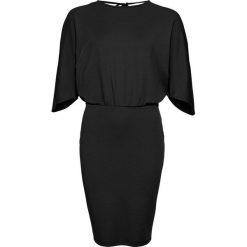 Sukienka z krepy z dżerseju bonprix czarny. Czarne sukienki damskie bonprix, z dżerseju. Za 99.99 zł.