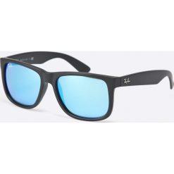 Ray-Ban - Okulary Justin. Szare okulary przeciwsłoneczne męskie Ray-Ban, z materiału. Za 499.90 zł.