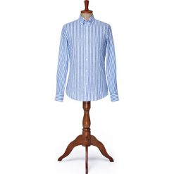 Koszula Niebieska w Prążek Road. Niebieskie koszule męskie LANCERTO, w prążki, z bawełny, button down. Za 299.00 zł.