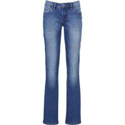 """Dżinsy """"authentik-stretch"""" z paskiem BOOTCUT bonprix niebieski. Jeansy damskie marki bonprix. Za 99.99 zł."""