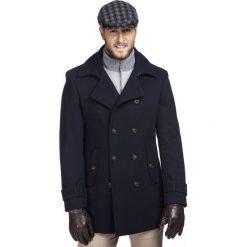Płaszcz LOUIS PSGE000039. Niebieskie płaszcze męskie Giacomo Conti, z kaszmiru, eleganckie. Za 1,299.00 zł.
