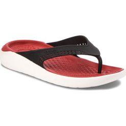 Japonki CROCS - Literide Flip 205182 Black/White. Czarne klapki damskie Crocs, z materiału. W wyprzedaży za 159.00 zł.