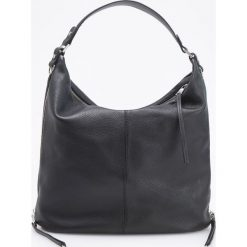 Skórzana torebka typu hobo - Czarny. Czarne torebki do ręki damskie Reserved. Za 599.99 zł.