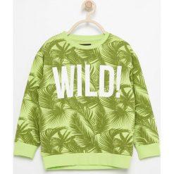 Bluza z tropikalnym motywem - Zielony. Bluzy dla chłopców Reserved. W wyprzedaży za 19.99 zł.