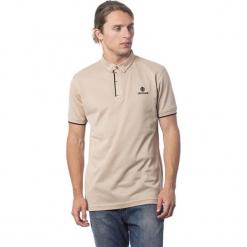 Koszulka polo w kolorze beżowo-czarnym. Brązowe koszulki polo męskie Roberto Cavalli, Trussardi, z haftami. W wyprzedaży za 319.95 zł.