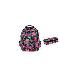 Plecak + saszetka St.Right Light Roses. Szare torby i plecaki dziecięce St-Majewski, z materiału. Za 148.00 zł.