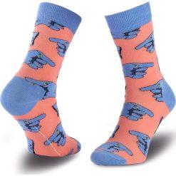 Skarpety Wysokie Unisex HAPPY SOCKS - BEA01-3000 Niebieski Różowy. Skarpety męskie Happy Socks, z bawełny. Za 39.90 zł.