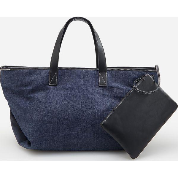 6d40b07cb993c Duża torba typu shopper - Granatowy - Torebki shopper damskie marki ...