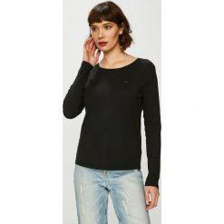 Tommy Jeans - Bluzka. Czarne bluzki damskie Tommy Jeans, z bawełny, z okrągłym kołnierzem. Za 179.90 zł.