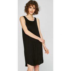 Dkny - Koszulka nocna. Szare koszule nocne damskie DKNY, z elastanu. W wyprzedaży za 179.90 zł.