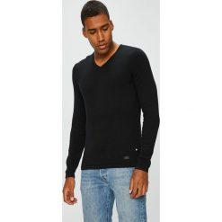 Produkt by Jack & Jones - Sweter. Czarne swetry przez głowę męskie PRODUKT by Jack & Jones, z bawełny. W wyprzedaży za 79.90 zł.