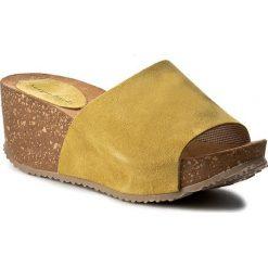 Klapki SERGIO BARDI - Catherine FS127242317KD 852. Żółte klapki damskie Sergio Bardi, w paski, ze skóry. W wyprzedaży za 99.00 zł.