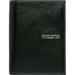 VIP COLLECTION - Portfel skórzany Palermo. Czarne portfele męskie VIP COLLECTION, z materiału. Za 249.90 zł.