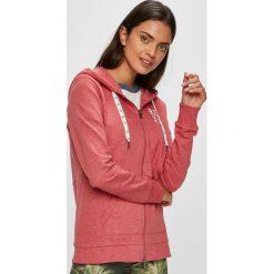 Roxy - Bluza. Różowe bluzy damskie Roxy, z bawełny. W wyprzedaży za 199.90 zł.