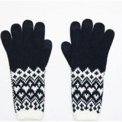 Wzorzyste rękawiczki pięciopalczaste - Granatowy. Rękawiczki damskie marki B'TWIN. W wyprzedaży za 24.99 zł.