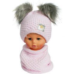 Czapka dziecięca z kominkiem CZ+K 173A różowa r. 48-50. Czapki dla dzieci marki Reserved. Za 62.96 zł.