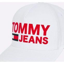 Tommy Jeans - Czapka. Szare czapki i kapelusze damskie Tommy Jeans, z bawełny. Za 179.90 zł.