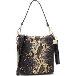 Torebka KAZAR - Tinsel 25801-08-B0 Gold/Black/Gray. Czarne torebki do ręki damskie Kazar, z nubiku. Za 649.00 zł.