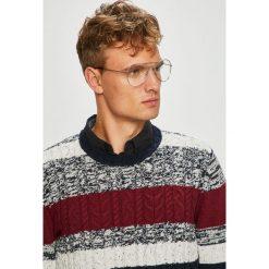 Jack & Jones - Sweter. Szare swetry przez głowę męskie Jack & Jones, z bawełny, z okrągłym kołnierzem. W wyprzedaży za 149.90 zł.