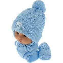 Czapka niemowlęca z szalikiem i rękawiczkami 011B niebieska. Czapki dla dzieci marki Pulp. Za 45.90 zł.
