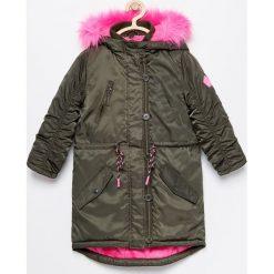 Ocieplana kurtka parka - Khaki. Kurtki i płaszcze dla dziewczynek marki Giacomo Conti. W wyprzedaży za 99.99 zł.