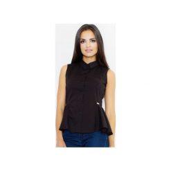 Koszula M357 Czarny. Czarne koszule damskie Figl, z bawełny, eleganckie, bez rękawów. Za 89.00 zł.