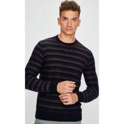 Trussardi Jeans - Sweter. Szare swetry przez głowę męskie TRUSSARDI JEANS, z bawełny, z okrągłym kołnierzem. Za 539.90 zł.