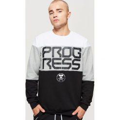 Trójkolorowa bluza z kolekcji PROGRESS - Czarny. Czarne bluzy męskie Cropp. Za 99.99 zł.
